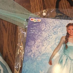 Disney Costumes - Elsa costume. Girls size 14. Worn once.  sc 1 st  Poshmark & Elsa Costume Girls Size 14 Worn Once | Poshmark
